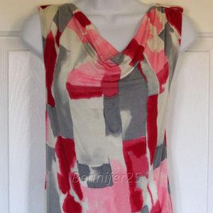 Dana Buchman tank XL knit drape top sleeveless